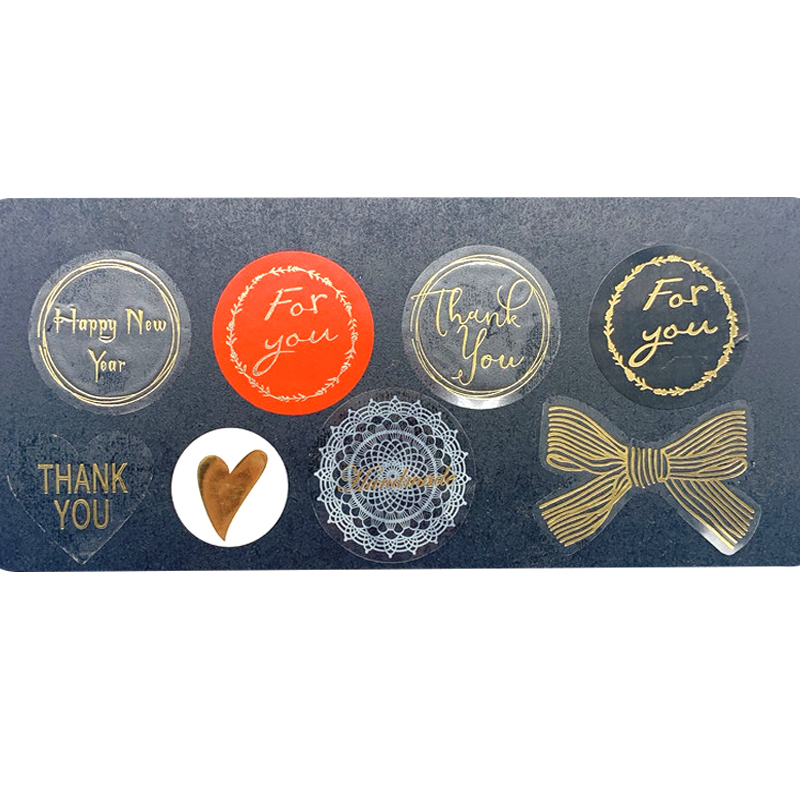 120pcs/100pcs/80pcs/60pcs/lot Thank You Multifunction Hot Stamping Transparent Seal Sticker For Valentine Wedding Party