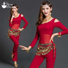 2020 New Bellydance Training Clothes Long Sleeve Belly Dance Exercise Top Modal Adultos Dancing Pants High Quality Tops