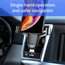 Baseus Universal Gravity Car Holder Air Vent Mount Car Phone Holder for iPhone 11 Pro Max Samsung Mini Mobile Phone Holder Stand
