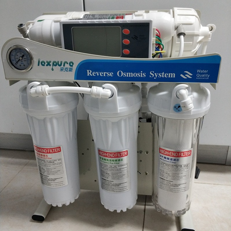 600 Gpd Level 5 Filtering Ro Reverse Osmosis System Filter System Aquarium Filter System LEXPURE Smart Auto Water Purifier