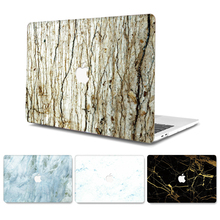 for MacBook Retina Pro Air 11 12 13 15 inch Sleeve Case Hard PVC Laptop Marble Wood Grain Cases Funda A1369 A1466