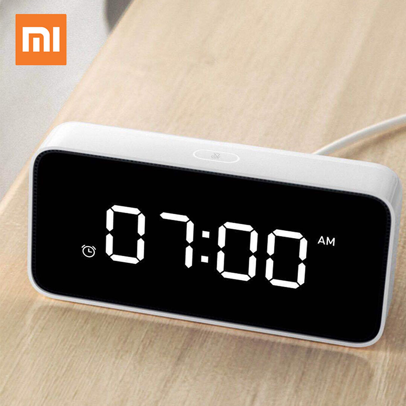 Original Xiaomi mi mijia xiaoai Smart Voice Broadcast Alarm Clock work with mijia home app image