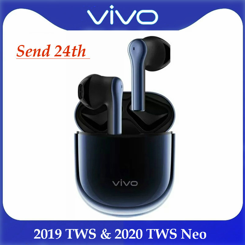 Vivo tws earphone true wireless bluetooth headset Blue white general In-ear earplugs smart touch genuine Long life real