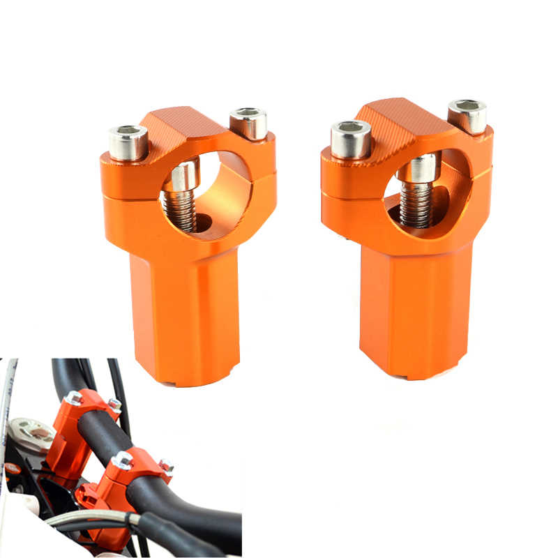 Handlebar CNC Clamp Risers Bar Mount Clamp สำหรับ KTM EXC XCW 200 250 300 350 400 450 500 SX 85 2016 2017 2018 SXF EXCF XC
