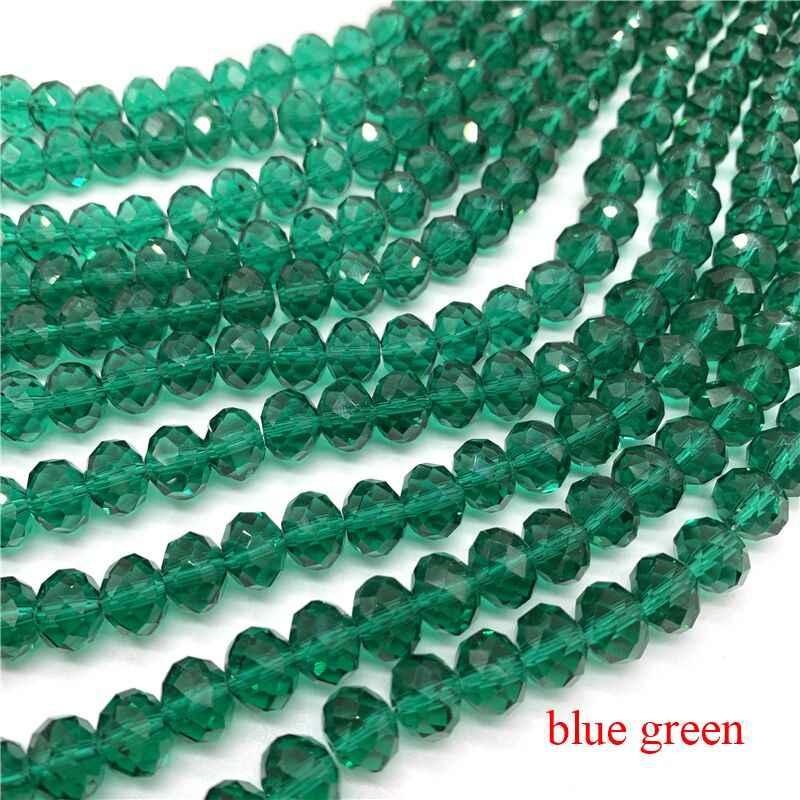 Cuentas de vidrio verde engomado claramente 10 mm 80 trozo joyas perlas g56
