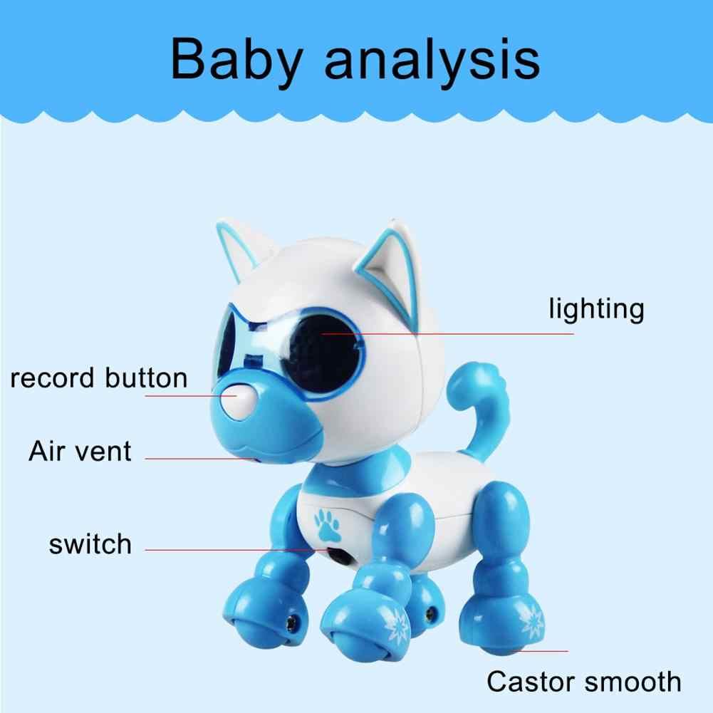 Электрический щенок робот сенсорный звук Запись светодиодный глаза