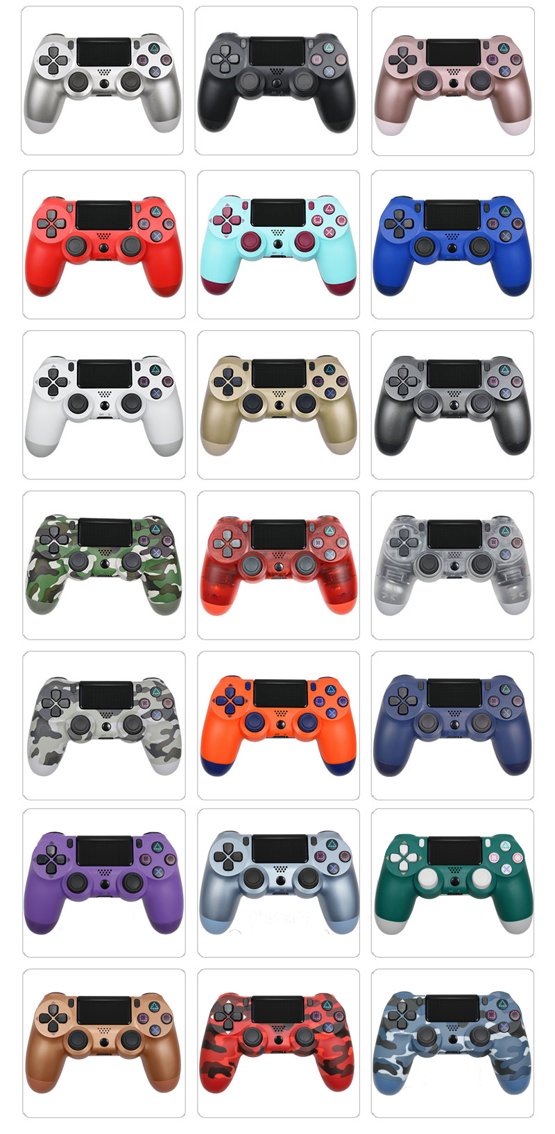Bluetooth Gamepad and Wireless Game controller with Audio Function for PS4 and PS3 16