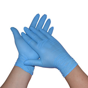 Image 5 - 100 Pieces Boxed Disposable Gloves Blue Nitrile Latex Catering Waterproof Housework Outgoing Protective Nitrile Rubber Gloves