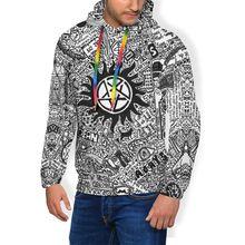 Supernatural Hoodie Supernatural Hoodies Nice Large Pullover Hoodie Polyester Long Length Loose White Hoodies