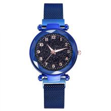 Magnes TikTok ten sam styl Internet Celebrity leniwy gwiaździste niebo cyfrowa powierzchnia Milan siateczkowy pasek AliExpress damski zegarek tanie tanio None 56 4 Transparent bag