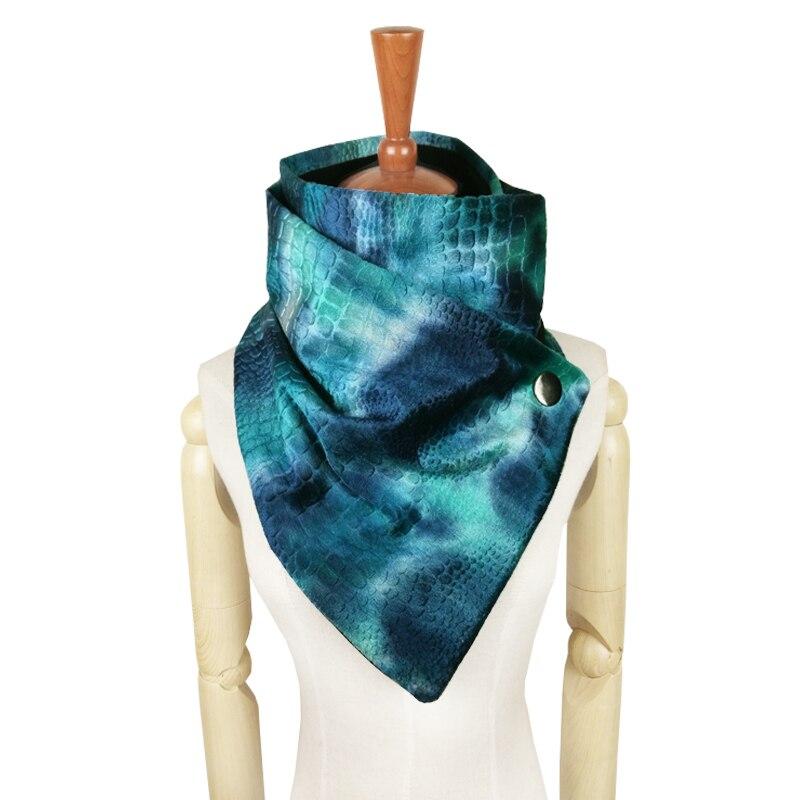 Couverture de mode dégradé colorant arc-en-ciel écharpe femmes en métal snap cou plus chaud boucle poncho hiver bufandas invierno mujer écharpes