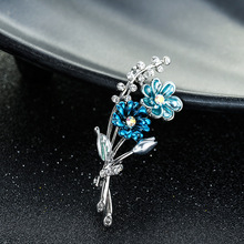 Brand Classic Crystal Rhinestones Big Daisy Flower Brooches for Women Coat or Wedding Bouquets