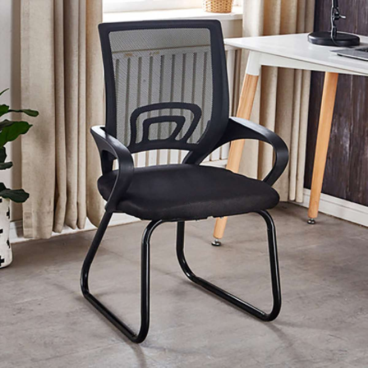 Ergonomic Office Chair Computer Chair Home Mesh Chair Staff Conference Chair Student Dormitory Bow Seat Black