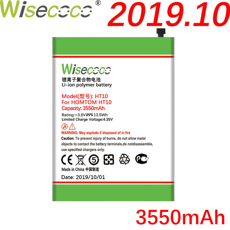 WISECOCO 3550mAh Battery For <font><b>HOMTOM</b></font> HT <font><b>10</b></font> HT10 Mobile Phone In Stock Latest Production High Quality Battery+Tracking Number image