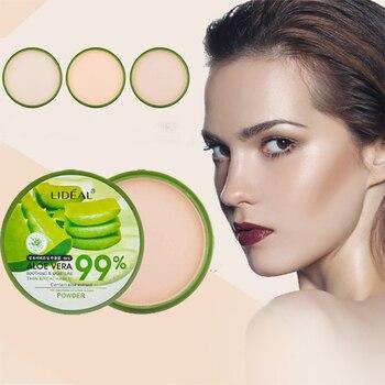 Aloe Vera-polvo hidratante para la cara, Alisador, polvo prensado, maquillaje, corrector, iluminar...