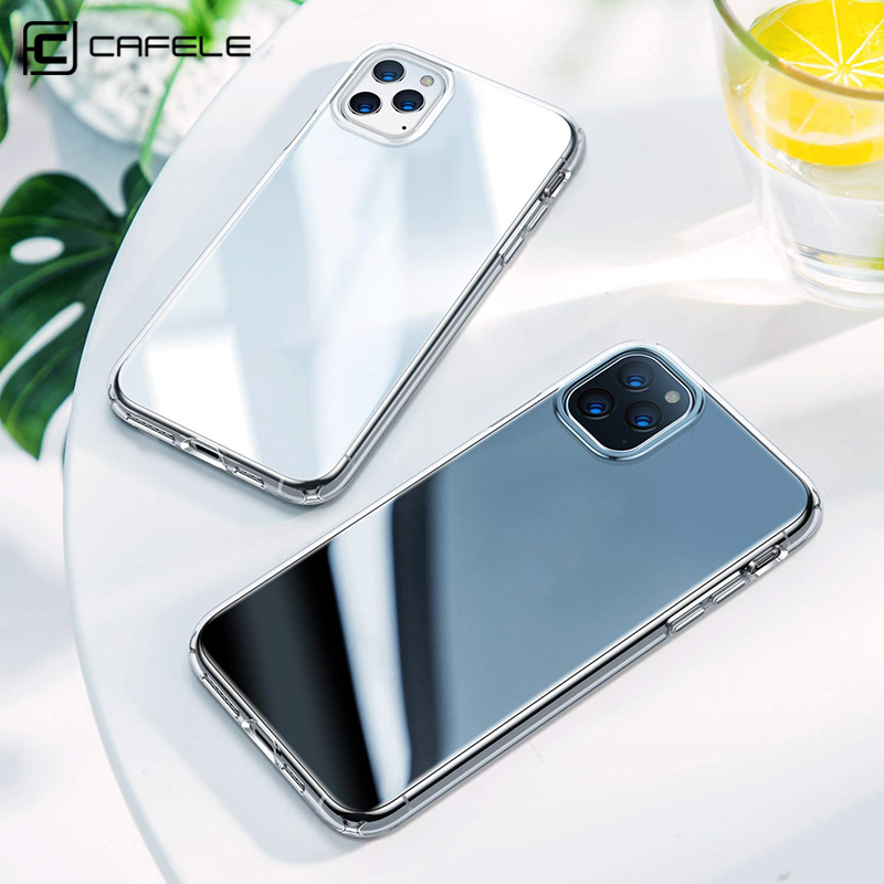 Cafele TPU Phone Case for iPhone 11 pro Max SE 2020 Crystal Clear soft TPU Phone Cover Case for iphone 12 6.1 6.7 Transparent
