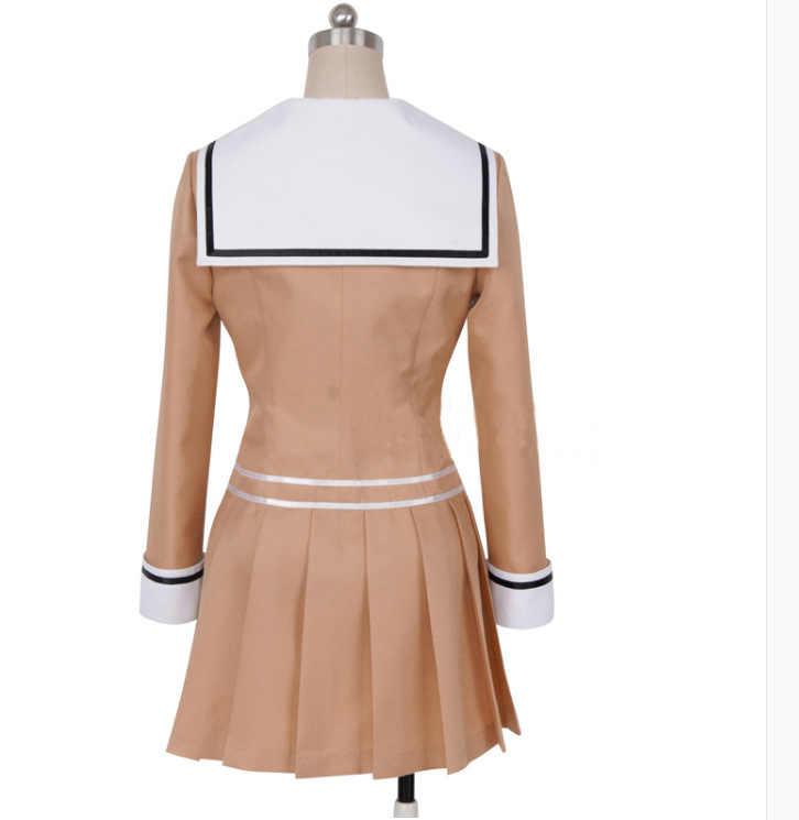 יפני אנימה מפץ חלום אויאמה קאסומי HANAZONO Cosplay תלבושות בנות תיכון אחיד ליל כל הקדושים קרנבל תלבושת סט ופאות