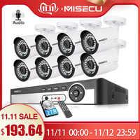MISECU H.265 48 V 8CH POE CCTV System 4.0MP Kugel IP POE Sicherheit Kamera Audio Record Outdoort Wasserdichte P2P Überwachung kit