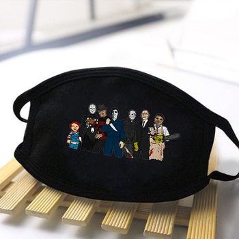 It is Friday Horror Movie Print Masks Jason Voorhees Washable Reusable Face Mouth Mask Adult Dustproof Windproof Mouth Muffles men s jason voorhees friday the 13th printed pure men s hot mouth mask women s kid pm2 5