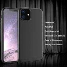 Funda de teléfono de lujo para iPhone XR XS MAX X Ultra delgada para iPhone 11 2019 11 Pro Max funda trasera suave Funda negra