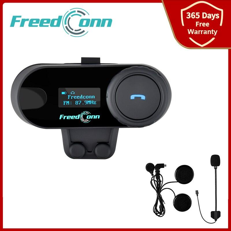 Freedconn TCOM SC Motorcycle Helmet Intercom Bluetooth Headset Interphone 3 Riders Communication Moto Intercomunicador FM Raido