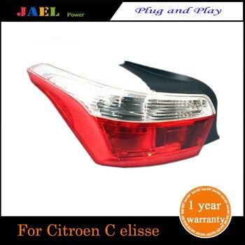 LED Tail Rear Lamp Lights Case For  Citroen C elisse modelo 2017 Taillights LED Rear Lamp LED  Water Flash Signal light