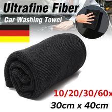 10/20Pcs Car Care Polishing Wash Towels Microfibers Auto Detailing Cleaning Soft Cloths Home Window 30x40cm Black