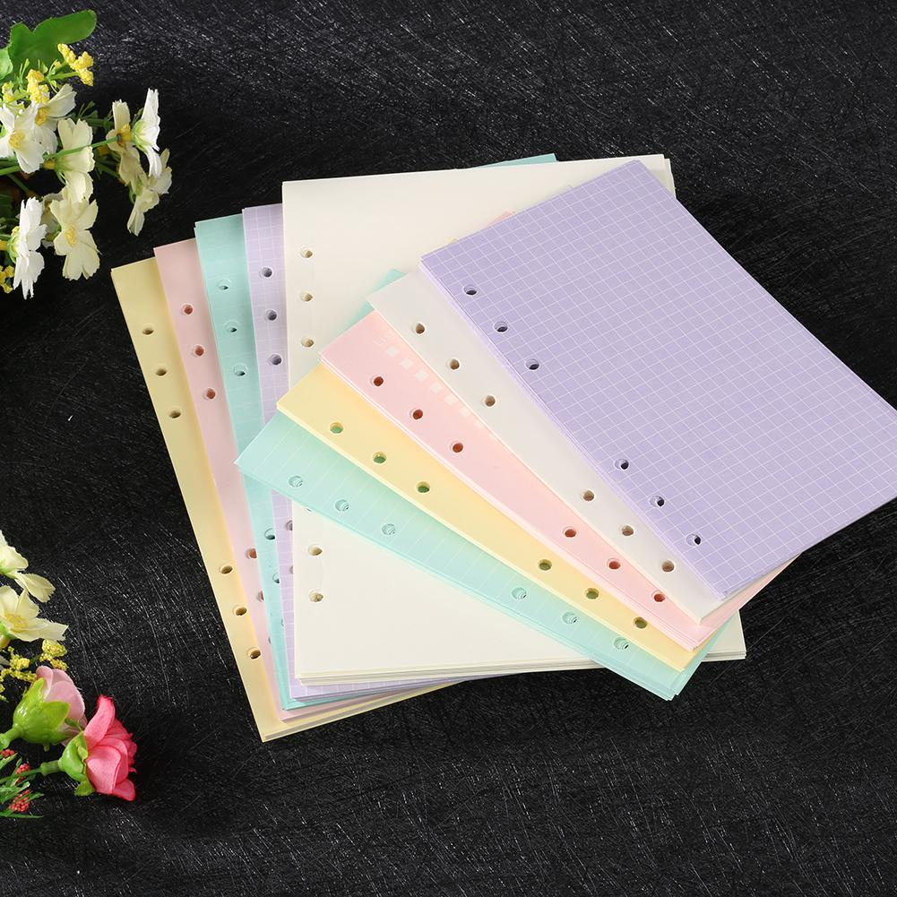 Notebook Colorful Notebook Accessories A5 A6 Office Solid Color Planner Inners Filler Papers 40 Sheet/ Set Inside