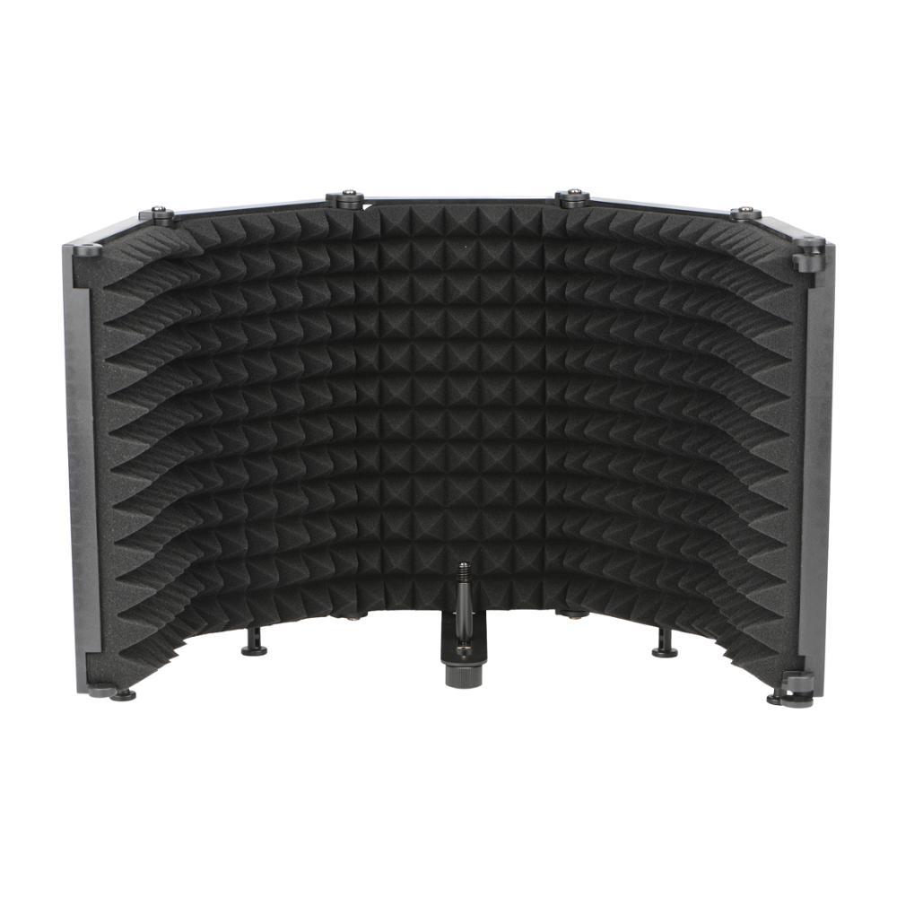 LO-PS68/69 3/5 панели студии вещания с регулируемым углом наклона складной Шум снижение звукопоглощающие Микрофон Ветер Экран щит