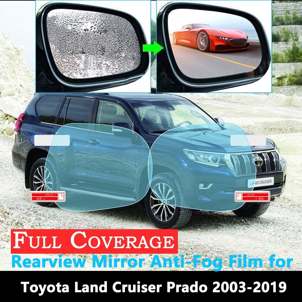 Capa completa película protetora para toyota land cruiser prado 120 150 j120 j150 2003 ~ 2019 espelho retrovisor do carro à prova de chuva anti-nevoeiro filme