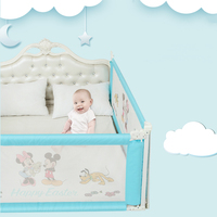Disney Baby Bed Rails Infants Playpen Bed Fence Safety Gate Crib Barriers For Kids Newborns Bed Safety Products 1.5m 1.8m 2.0m