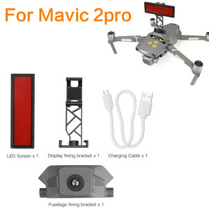 Image 5 - LED Display Screen for DJI Mavic Mini Drone DIY Display Board Bracket Drone Accessories Rechargeable and free text editing