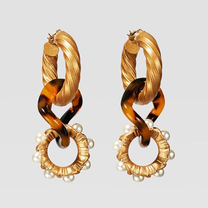 Dvacaman ZA, золотое ожерелье на цепочке, Чокеры для женщин, металлическое круглое звено, массивное ожерелье, s макси панк, модные вечерние ювелирные изделия - Окраска металла: 15