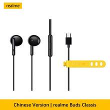 Original Realme Buds Classic Type C Earphones Headset Realme 7 Pro X50m X7 Pro X3 X2 Pro XT 6S 6i C3
