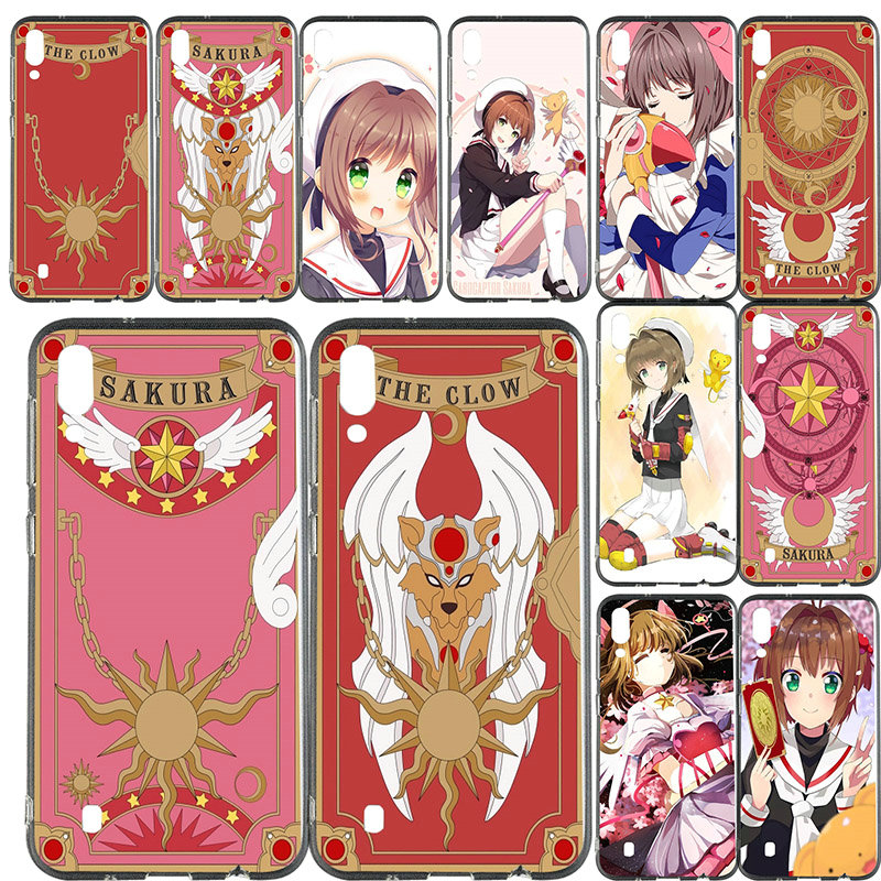 Clow Card Captor Sakura <font><b>Anime</b></font> <font><b>Phone</b></font> <font><b>Cases</b></font> Slim TPU for <font><b>Samsung</b></font> Galaxy Note 8 9 S2 S3 S4 S5 Mini S6 S7 S8 <font><b>S9</b></font> S10 Edge <font><b>Plus</b></font> Lite image