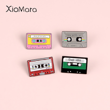 Take A Sad Song And Make It Better 80S Retro Magnetic Tape Enamel Pin Badge Brooches lapel Pins For Old-School music lovers