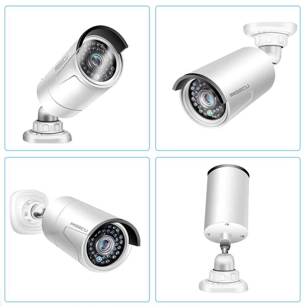MISECU H.265 48 V 8CH POE system CCTV 4.0MP Bullet IP POE kamera bezpieczeństwa zapis Audio Outdoort wodoodporna P2P zestaw do nadzorowania