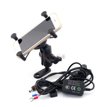 Phone Holder USB Charger For BMW F650GS F700GS F800GS F800GT F800R F800 GS/GT/R Motorcycle GPS Navigation Mount Bracket X-Grip