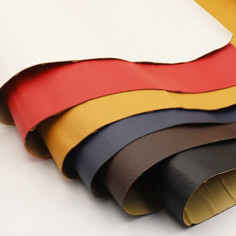 Самоклеящиеся ткани для дивана из искусственной кожи, 135x50см, имитация кожи, с клейкой резиновой накладкой