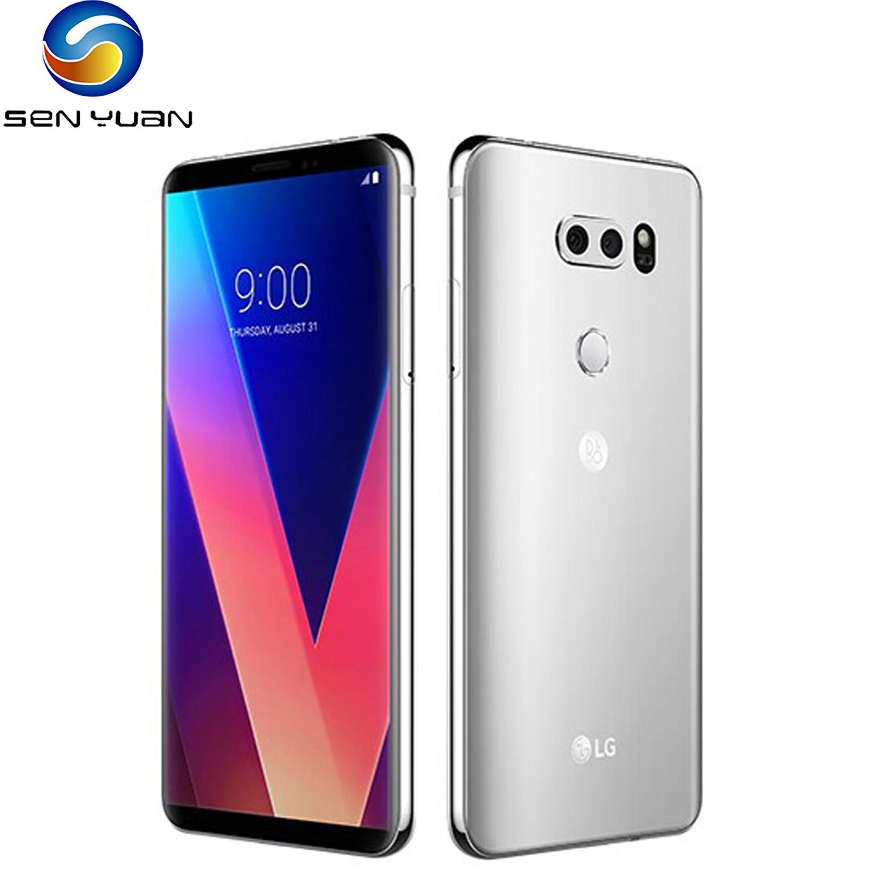 LG-smartphone V30 Octa Core, teléfono móvil Original libre, pantalla de 6,0 pulgadas, 4GB de RAM, 64/128 GB de ROM, cámara trasera de 16.0MP, 3 cámaras LTE, reconocimiento de huella dactilar