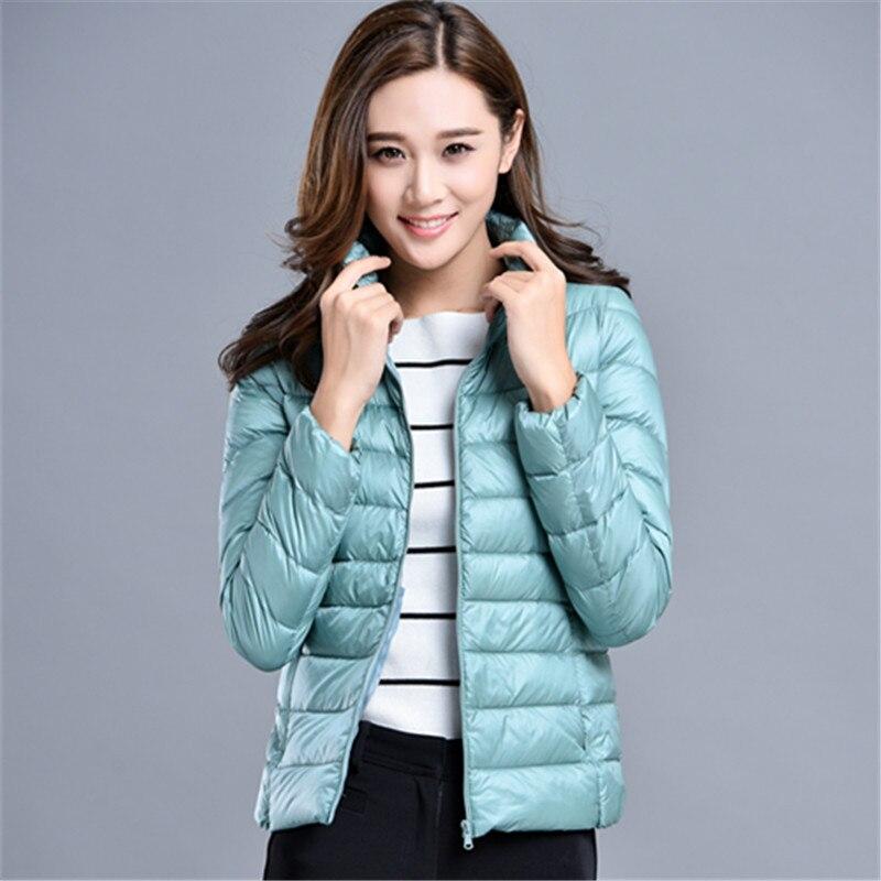 Women Winter   Coat   2019 New Puffer Duck   Down   Jacket Ultralight Portable   Down     Coat   for Women Female Winter Jackets Parka Outerwear