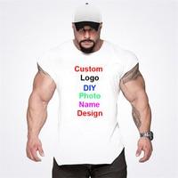 Su propio diseño, logotipo de la marca/imagen de hombre de Top de tirantes de algodón superior culturismo Camisa sin mangas gimnasio de entrenamiento de Fitness ropa
