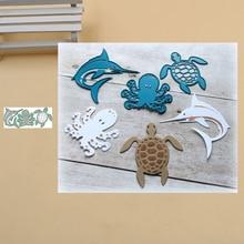 Cutting Dies Dolphin Stencils Punch Paper-Craft Scrapbook Octopus Lucky-Goddess Knife-Mould