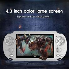 وحدة تحكم ألعاب محمولة مع شاشة 4.3 بوصة ، مشغل MP4 ، ألعاب فيديو ريترو 8 جيجابايت حقيقية ، دعم كاميرا الألعاب الإلكترونية ، 9 شاشة عالية الدقة
