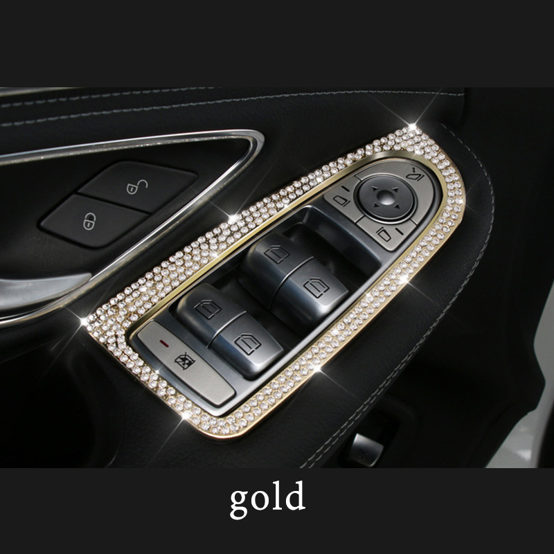 For 2015 2019 Mercedes benz class C w205 amg c63 glc x253 c253 coupe Door lift ring decoration class Zinc alloy accessories