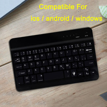 Mini blueteeth Mobile phone keyboard for ipad ios android Portable Ultra thin wireless keyboard office 7.9 10 inch black white