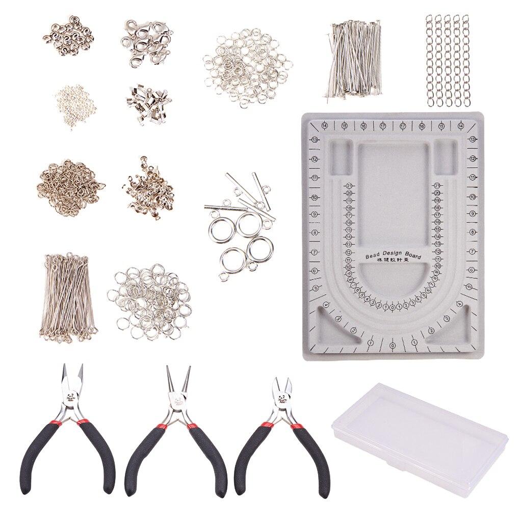 Kit de fournitures de fabrication de bijoux avec des fils d'outils et des résultats ensemble de réparation de perles