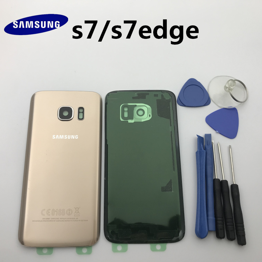 Replacement Original Rear Panel Battery Glass Back Door Cover For Samsung Galaxy s7 G930 S7 edge G935 G935F/A/P/T+tool image