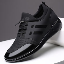 Tênis masculinos qualidade 6cm aumentando sapatos britânicos novo verão respirável tênis casuais tamanho grande sapatos de escritório