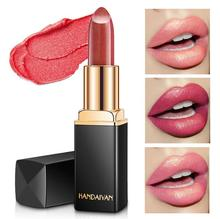 HANDAIYAN Brand Professional Lips Makeup Waterproof Long Lasting Pigment Nude Pink Mermaid Shimmer Lipstick Luxury